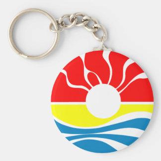 Cancun Mexico Basic Round Button Keychain