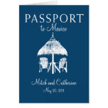 Cancun Mexico Passport Wedding Invitation Greeting Cards