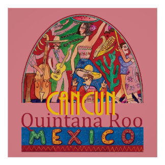 CANCUN Mexico POSTER Print