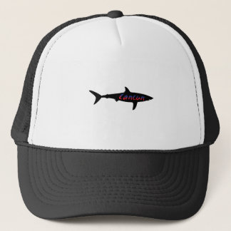 Cancun Mexico Shark Trucker Hat