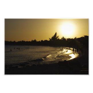 CANCUN Mexico Sunset Beach Photo Print 8x10