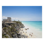 Cancun, Quintana Roo, Mexico - Ruins on a hill Poster