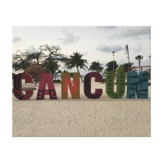Cancun Sign – Playa Delfines, Mexico Canvas