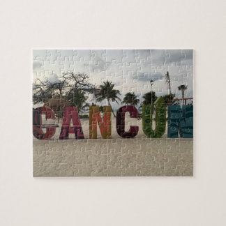 Cancun Sign – Playa Delfines, Mexico Jigsaw Puzzle