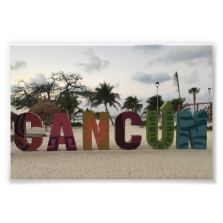 Cancun Sign – Playa Delfines, Mexico Photo Print