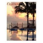 Cancun sunset postcard