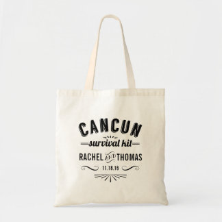 Cancun Survival Kit | Wedding Welcome Tote Bag