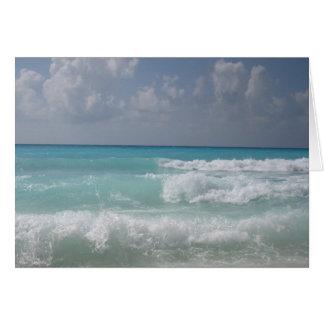 Cancun Wave Note Card