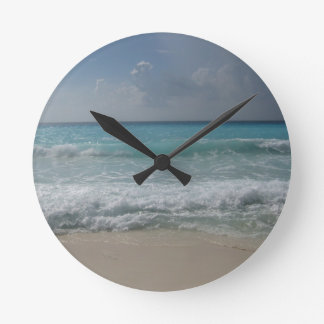 Cancun Waves Wall Clock