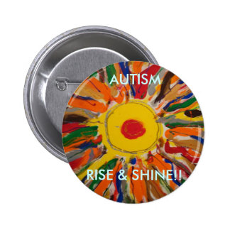 Rise And Shine Buttons, Rise And Shine Pinback Button Designs