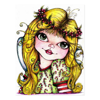 Candi Cane Fairy Postcard