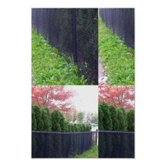 Candian wild garden parks colors fence wall deco poster