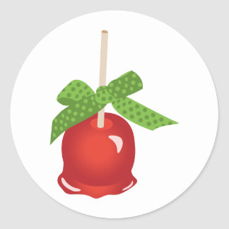 Candied Apple Classic Round Sticker