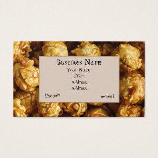 Candied Caramel Popcorn Business Card