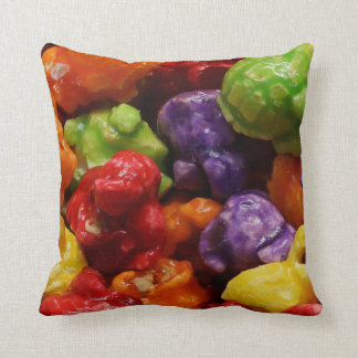 Candied Popcorn Throw Pillow