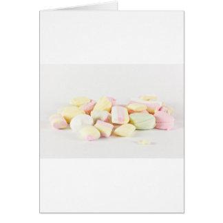 Candies marshmallows card