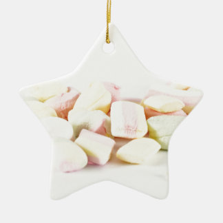 Candies marshmallows ceramic star ornament