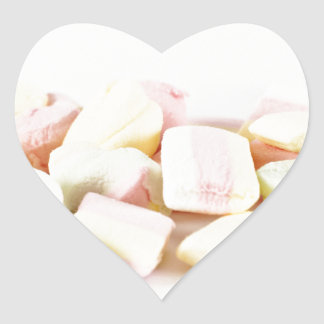 Candies marshmallows heart sticker