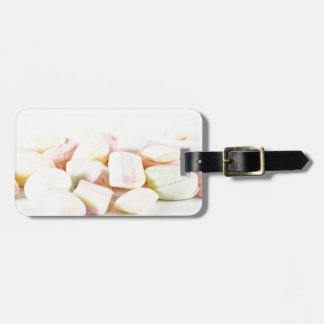Candies marshmallows luggage tag