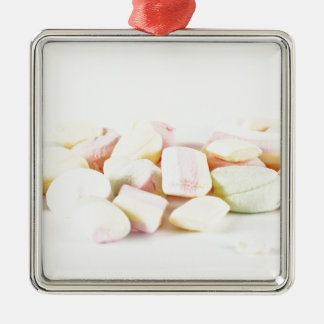 Candies marshmallows metal ornament