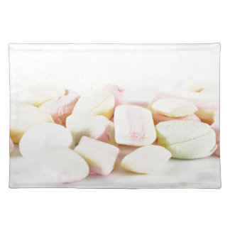 Candies marshmallows place mat