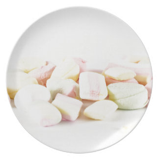 Candies marshmallows plate