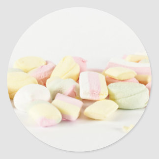 Candies marshmallows round sticker