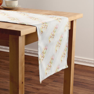 Candies marshmallows short table runner