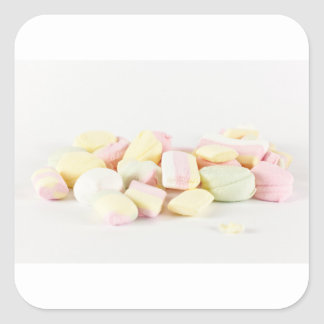 Candies marshmallows square sticker