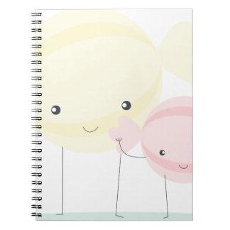 candies notebooks