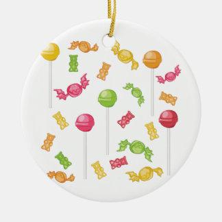 Candies Round Ceramic Ornament