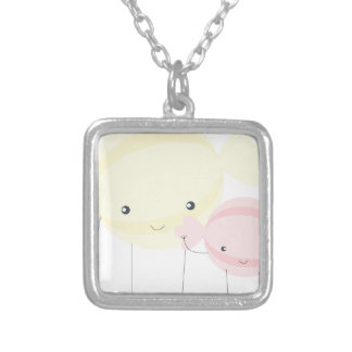 candies silver plated necklace