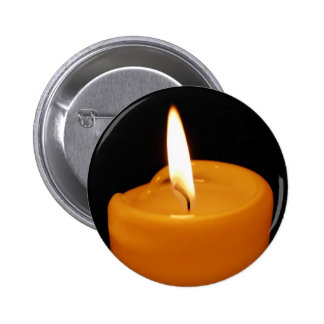 Candle 2 Inch Round Button