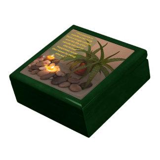 Candle Aloe Photograph and Buddha Quote Keepsake Boxes