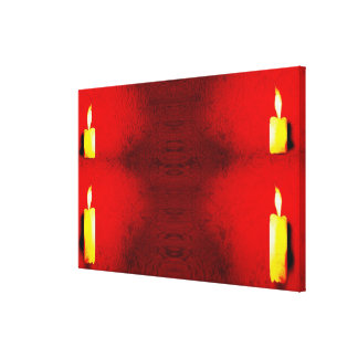 Candle Art on Canvas Photo Vintage French Style