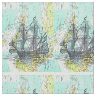 candle boats fabric