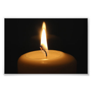 Candle Burning Photo Print