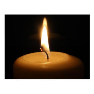 Candle Burning Postcard
