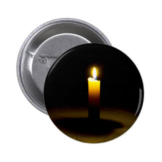 Candle, flame. 2 inch round button