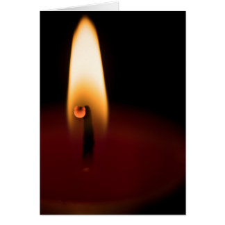Candle Flame Blank Greeting Card