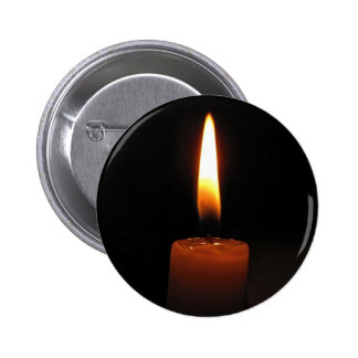 Candle Flame 2 Inch Round Button