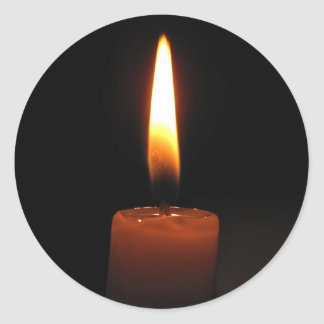 Candle Flame Classic Round Sticker