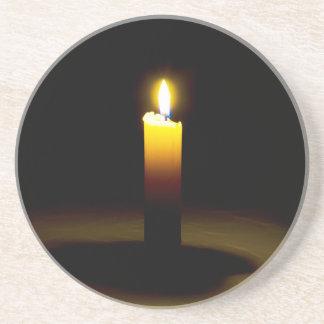 Candle, flame. coaster
