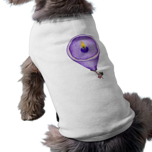 Candle Flame Dog T-shirt