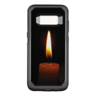 Candle Flame on Black OtterBox Galaxy S8 Case
