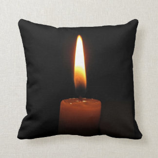 Candle Flame Throw Pillow