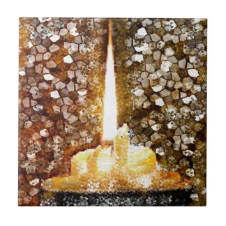Candle Flame Ceramic Tiles