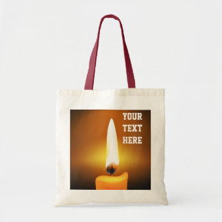 Candle Flame Tote Bag