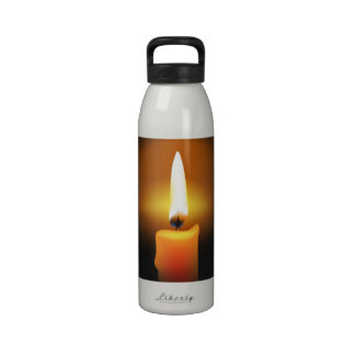 Candle Flame Water Bottle Reusable Water Bottles