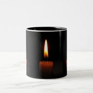 Candle Flames Two-Tone Coffee Mug